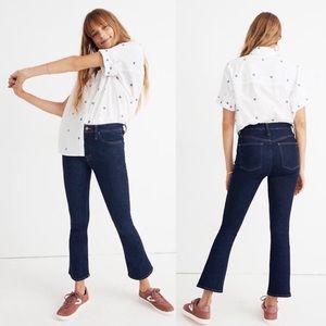 🆕 Madewell Cali Demi-Boot Dark Wash Jeans 25 Tall